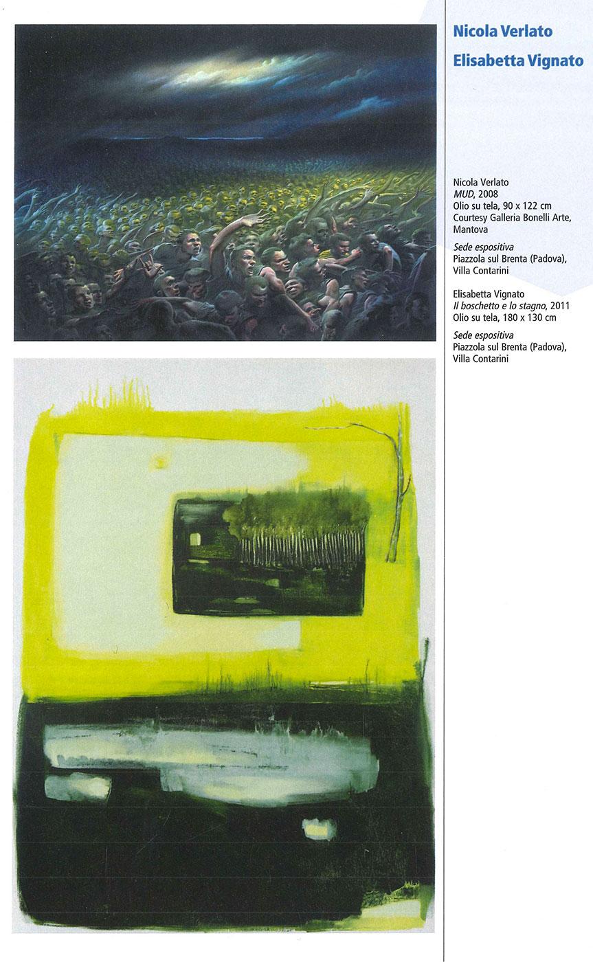 Pagina catalogo biennale - Elisabetta Vignato